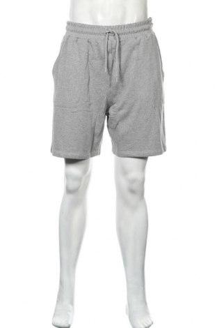 Мъжки къс панталон NU-IN, Размер L, Цвят Сив, Памук, Цена 32,45лв.