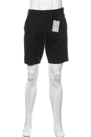 Мъжки къс панталон Only & Sons, Размер L, Цвят Черен, 55% памук, 45% лен, Цена 32,45лв.