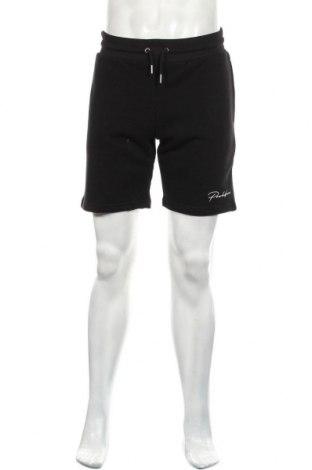Мъжки къс панталон River Island, Размер S, Цвят Черен, 67% памук, 33% полиестер, Цена 39,60лв.
