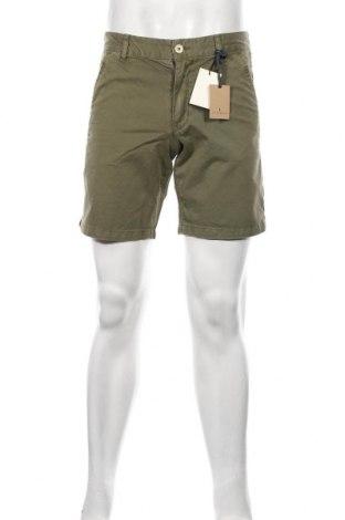Мъжки къс панталон Scalpers, Размер M, Цвят Зелен, Памук, Цена 44,50лв.