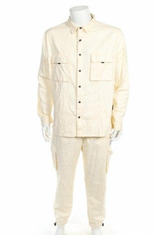 Set de bărbați Boohoo, Mărime XL, Culoare Ecru, Bumbac, Preț 128,09 Lei