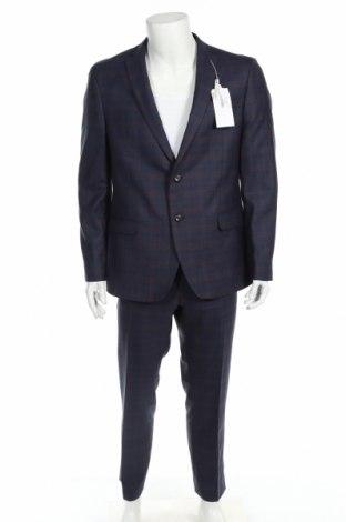 Costum de bărbați Ben Sherman, Mărime XL, Culoare Albastru, Poliester, Preț 721,88 Lei