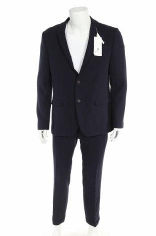 Costum de bărbați Ben Sherman, Mărime L, Culoare Albastru, 80% poliester, 20% bumbac, Preț 590,63 Lei