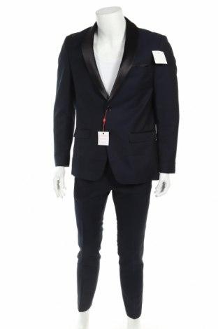 Costum de bărbați Bruno Banani, Mărime M, Culoare Albastru, 83% poliester, 17% viscoză, Preț 451,54 Lei