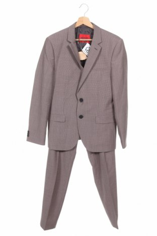 Costum de bărbați Hugo Boss, Mărime M, Culoare Albastru, 74% lână, 23% poliester, 3% elastan, Preț 992,01 Lei