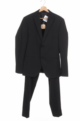 Costum de bărbați Isaac Dewhirst, Mărime M, Culoare Negru, 66% poliester, 32% viscoză, 2% elastan, Preț 237,11 Lei