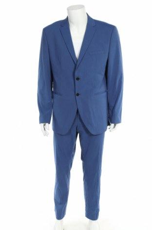Costum de bărbați Selected Homme, Mărime XL, Culoare Albastru, 65% poliester, 33% viscoză, 2% elastan, Preț 380,49 Lei