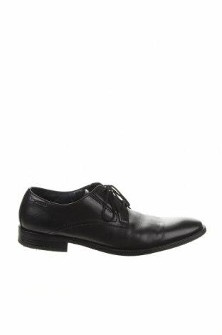 Ανδρικά παπούτσια Bugatti, Μέγεθος 45, Χρώμα Μαύρο, Γνήσιο δέρμα, Τιμή 48,87€