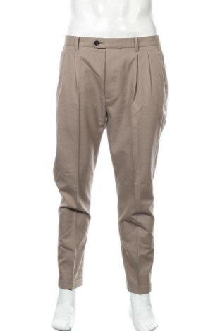 Мъжки панталон AllSaints, Размер L, Цвят Кафяв, 60% памук, 40% вълна, Цена 85,05лв.