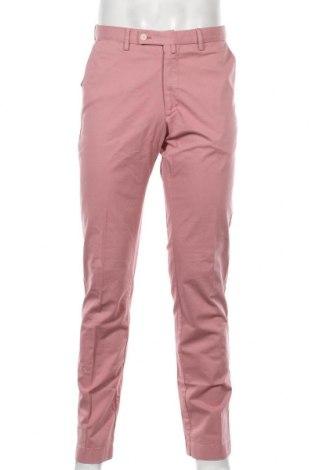 Мъжки панталон Hackett, Размер M, Цвят Розов, 99% памук, 1% еластан, Цена 81,95лв.