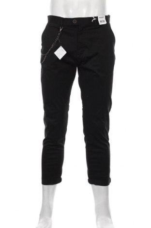 Мъжки панталон Pull&Bear, Размер M, Цвят Черен, 98% памук, 2% еластан, Цена 25,20лв.