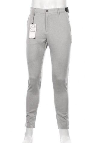 Pánské kalhoty  Zara, Velikost S, Barva Šedá, 62% polyester, 34% viskóza, 4% elastan, Cena  299,00Kč