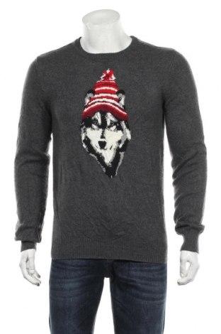 Мъжки пуловер Aeropostale, Размер M, Цвят Сив, 40% полиамид, 35% акрил, 25% вълна, Цена 22,31лв.