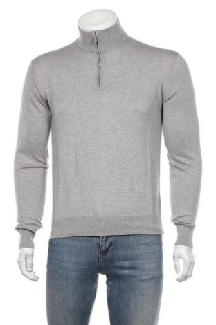 Мъжки пуловер Hackett, Размер S, Цвят Сив, 85% памук, 15% кашмир, Цена 72,08лв.
