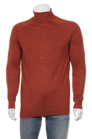 Мъжки пуловер Lft, Размер L, Цвят Оранжев, 80% вискоза, 20% полиестер, Цена 18,90лв.