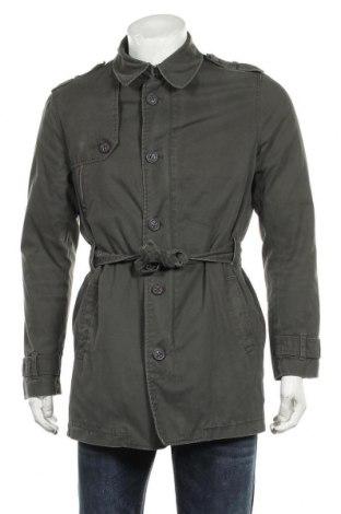 Мъжки шлифер Zara Man, Размер L, Цвят Зелен, 60% памук, 40% полиестер, Цена 43,50лв.