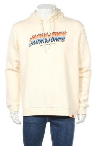 Мъжки суичър Jack & Jones, Размер XL, Цвят Екрю, 70% памук, 30% полиестер, Цена 51,75лв.