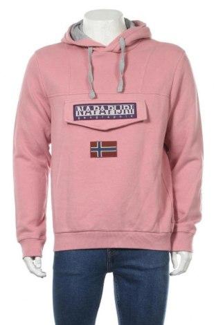 Мъжки суичър Napapijri, Размер L, Цвят Розов, 90% памук, 10% полиестер, Цена 87,57лв.