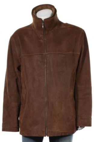 Мъжко кожено яке Angelo Litrico, Размер XXL, Цвят Бежов, Естествена кожа, Цена 31,66лв.