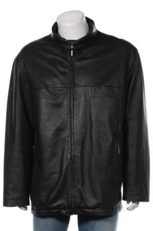 Мъжко кожено яке Angelo Litrico, Размер XL, Цвят Черен, Естествена кожа, Цена 74,97лв.