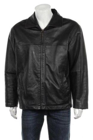 Мъжко кожено яке Angelo Litrico, Размер M, Цвят Черен, Естествена кожа, Цена 54,18лв.