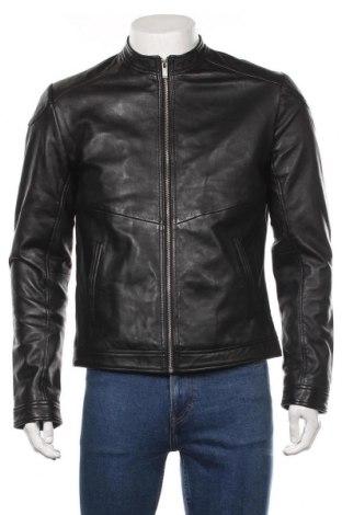 Мъжко кожено яке Blue Wellford, Размер M, Цвят Черен, Естествена кожа, Цена 305,87лв.