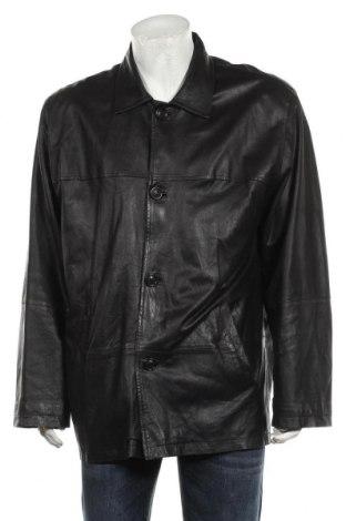 Мъжко кожено яке Milestone, Размер L, Цвят Черен, Естествена кожа, Цена 32,55лв.