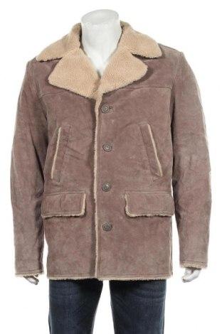 Мъжко кожено яке Oakwood, Размер L, Цвят Бежов, Естествена кожа, Цена 157,92лв.