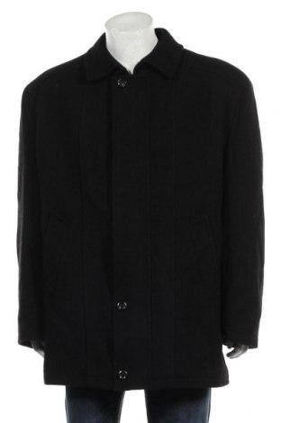 Мъжко палто, Размер L, Цвят Черен, 70% вълна, 20% полиестер, 10% вискоза, Цена 51,19лв.