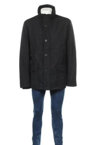 Мъжко палто, Размер XXL, Цвят Сив, 60% вълна, 40% полиестер, Цена 14,18лв.