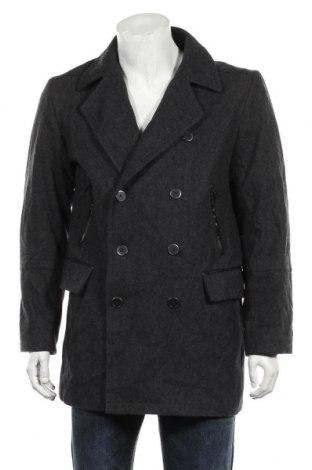Мъжко палто Alfani, Размер M, Цвят Сив, 57% вълна, 33% полиестер, 6% вискоза, 5% други материали, Цена 19,69лв.