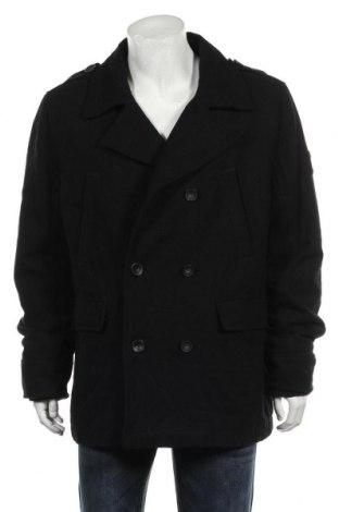 Мъжко палто Angelo Litrico, Размер XL, Цвят Черен, 60% вълна, 37% полиестер, 3% други тъкани, Цена 40,16лв.