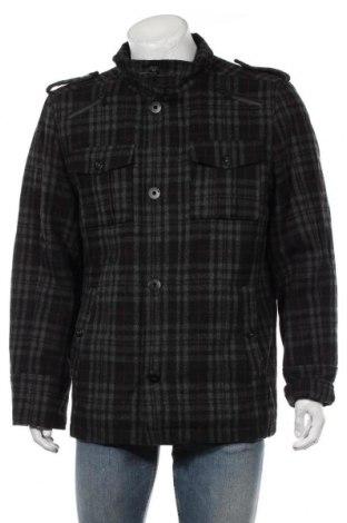 Мъжко палто Angelo Litrico, Размер L, Цвят Черен, 50% полиестер, 50% вълна, Цена 40,16лв.