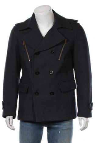 Мъжко палто Boss Orange, Размер L, Цвят Син, 70% вълна, 28% полиестер, 2% други тъкани, Цена 226,80лв.