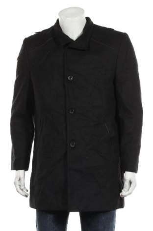 Мъжко палто Chic, Размер XL, Цвят Черен, Вълна, Цена 50,40лв.