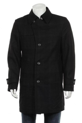Мъжко палто Cg, Размер L, Цвят Черен, 76% вълна, 16% полиамид, 8% полиестер, Цена 21,53лв.