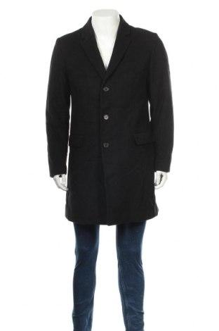 Мъжко палто Hugo Boss, Размер L, Цвят Черен, 80% вълна, 20% полиамид, Цена 174,30лв.