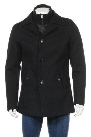 Мъжко палто Jack & Jones, Размер S, Цвят Черен, Цена 89,25лв.