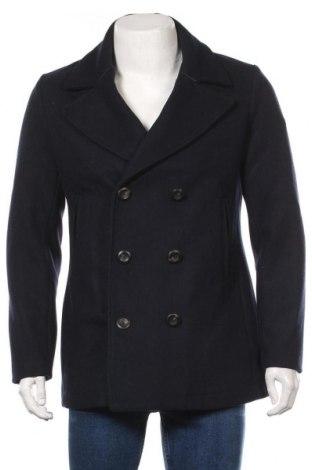 Мъжко палто Marciano, Размер M, Цвят Син, 47% вълна, 44% полиестер, 4% полиамид, 3% вискоза, 2% акрил, Цена 206,17лв.