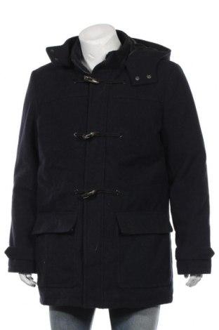 Мъжко палто Primark, Размер L, Цвят Син, 50% полиестер, 33% вълна, 8% полиамид, 7% акрил, 2% вискоза, Цена 49,35лв.