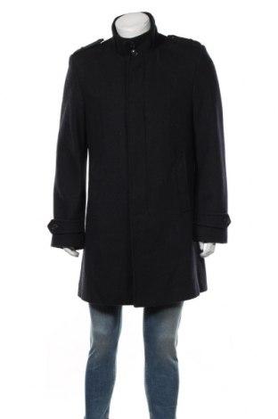 Мъжко палто Reserved, Размер L, Цвят Сив, 50% вълна, 50% полиестер, Цена 49,98лв.