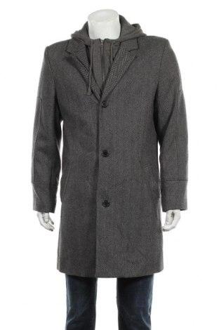 Мъжко палто Smog, Размер XL, Цвят Сив, 80% полиакрил, 20% вълна, Цена 42,32лв.