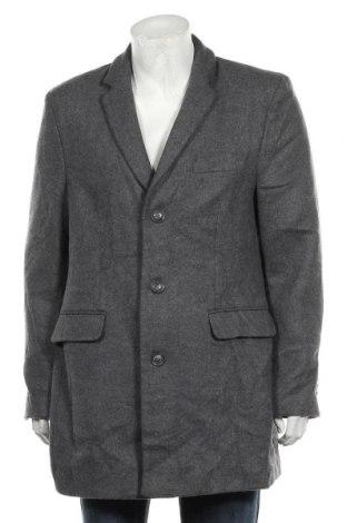 Мъжко палто Straight Up, Размер L, Цвят Сив, 50% полиестер, 25% полиакрил, 18% вълна, 7% полиамид, Цена 52,08лв.