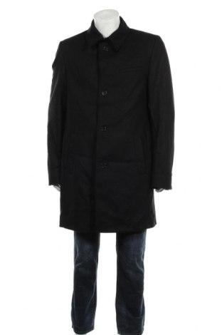 Мъжко палто Theo, Размер L, Цвят Черен, 80% вълна, 20% полиамид, Цена 22,40лв.