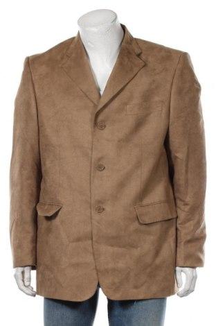 Мъжко сако, Размер XL, Цвят Бежов, Полиестер, Цена 8,82лв.
