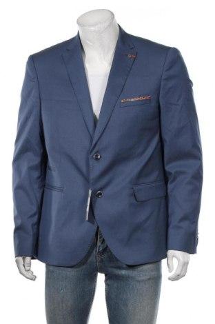 Мъжко сако Bruno Saint Hilaire, Размер XL, Цвят Син, 74% вълна, 2% полиамид, 2% еластан, Цена 235,95лв.