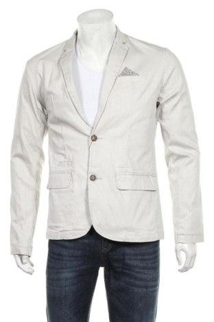 Мъжко сако Carnet De Vol, Размер L, Цвят Сив, 80% памук, 19% полиестер, 1% еластан, Цена 81,12лв.