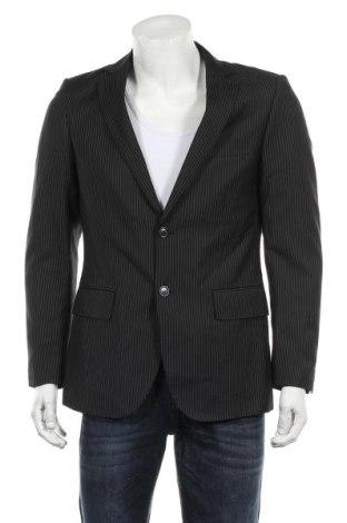 Мъжко сако H&M, Размер M, Цвят Черен, 80% полиестер, 20% вискоза, Цена 13,12лв.