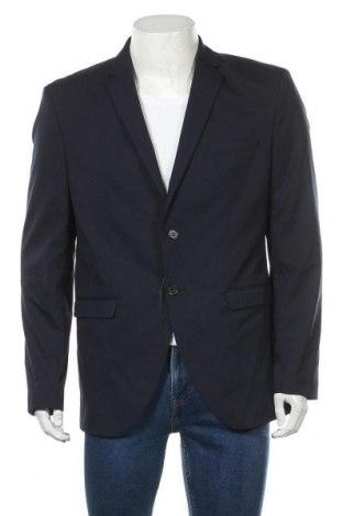 Мъжко сако Selected Homme, Размер XL, Цвят Син, 65% полиестер, 33% вискоза, 2% еластан, Цена 56,62лв.