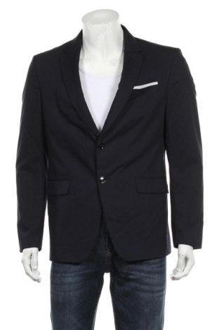 Мъжко сако Zara, Размер L, Цвят Син, 85% полиестер, 15% вискоза, Цена 36,00лв.